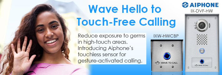 Aiphone Wave to Open Touch Free Calling